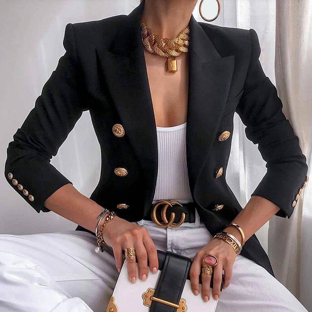 blazer trendy look chic with buttons
