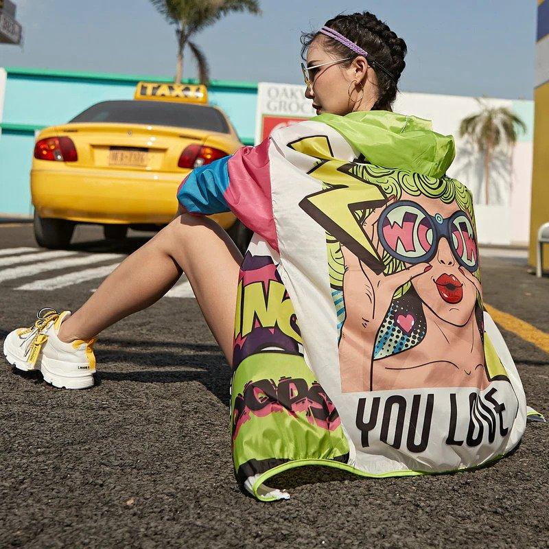 pop art beach cover up oh la chic